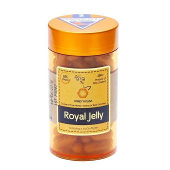 Honey House Royal Jelly Capsules 1000mg x 60caps (Best Before June 2023)